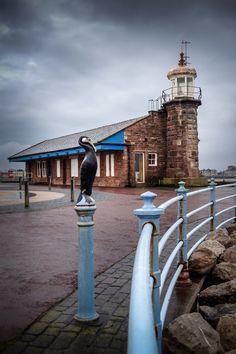 Morecambe Lighthouse, Lancashire, England. Built in 1855