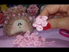 Diy Ribbon, Ribbon Crafts, Silk Flowers, Fabric Flowers, Felt Roses, Flower Video, Boutique Hair Bows, Cross Stitch Animals, Silk Ribbon Embroidery