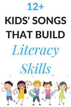 Over 12 songs that build literacy skill.  Perfect for circle time songs, on the go in the car, or just to play at home. via @growingbbb