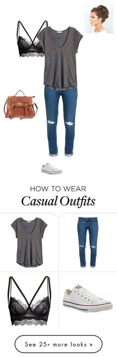 """casual"" by lol-horse on Polyvore featuring H&M, Paige Denim and Converse"