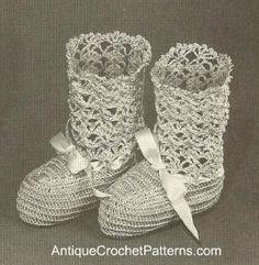Baby Booties Pattern - Free Crochet Baby Bootie Pattern
