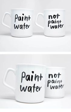 Never make this unfortunate mistake again! #paintwater #notpaintwater #paintwatermugs #coffemugs #coffeelover