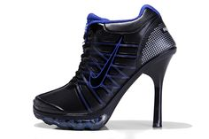 Nike Air Cushion Groß Fersen Schuhe Schwarz Blau