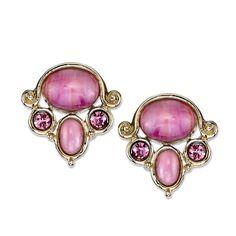 1928 Jewelry Gold Tone Button Earrings, Women's