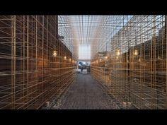 Delicate brass framework dividesNeri&Hu's Sulwhasoo store