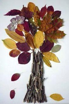Colección de 50 manualidades para realizar con hojas de OTOÑO. Diferentes niveles de dificultad. - Imagenes Educativas Kids Crafts, Twig Crafts, Leaf Crafts, Fall Crafts For Kids, Nature Crafts, Toddler Crafts, Diy For Kids, Autumn Crafts, Autumn Art