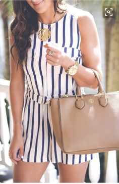 LOVE this navy and white striped romper. Try stitch fix today to get pieces just like this. Spring summer stitch fix 20-7 #affiliatelink