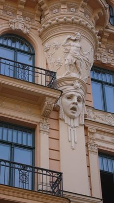 Art nouveau buildings in the old town of Riga ... Latvia ... Book & Visit LATVIA now via www.nemoholiday.com or as alternative you can use latvia.superpobyt.com .... For more option visit holiday.superpobyt.com...