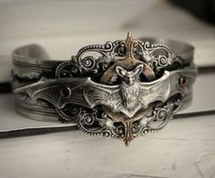 Vampire Hunter Aged Silver and Aged Brass Cuff - Silver - Bronze - Romantic - Victorian - Steampunk - Vampire - Undead - Nocturnal Jewelry Box, Jewelry Accessories, Jewelry Rings, Brass Cuff, Gothic Jewelry, Gothic Fashion, Steampunk Fashion, Emo Fashion, Bling