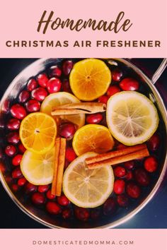 Ignite your home in an explosive festive fragrance with this homemade Christmas air freshener recipe. So warm, welcoming and eco-friendly! Fresh Cranberries, Air Freshener, Homemade Christmas, Cinnamon Sticks, Fruit Salad, Crafts To Make, Special Occasion, Vanilla, Lime