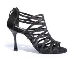 Learned Dileechi Brand Black Flock Deep Skin Color Satin Latin Dance Shoes Ballroom Dancing Shoes High Heels Party Salsa Dance Shoes Sneakers Dance Shoes
