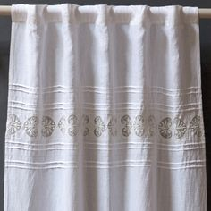 Love the linen look on this curtain  Pom Pom at Home Curtain Panel Magali @Sarah Nasafi Grayce