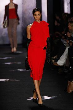 Fall 2012 Trends - Ladies in Red    Red is the new black, or better yet the best color to pair it with this season. This sultry shade has the most impact in a solid dress, but transforms an entire outfit when worn in separate pieces like a hot blazer.     Diane von Furstenberg Fall 2012 runway.