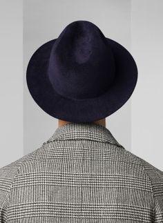 Chapeau bleu marine PERFEDORA-EC03/30 - Chapeau homme