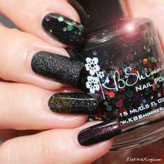 Black Holiday Diamonds: KBShimmer Strung Out, OPI Emotions, Zoya Storm, OPI First Class Desires