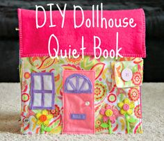 When I found out I was having a little girl, I knew that I HAD to make her a dollhouse quiet book. Making a dollhouse quiet book was quite different from making activity-style quiet books like I ha… Diy Quiet Books, Baby Quiet Book, Felt Quiet Books, Sewing For Kids, Diy For Kids, Quiet Book Patterns, Quiet Book Templates, Busy Book, Sewing Hacks