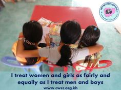 Let's put equality into practice!  #GenderEquality #WomensRights www.facebook.com/CambodianWomensCrisisCentre