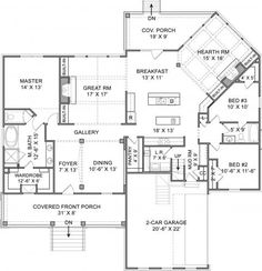 Balsam Mtn Lodge House Plan for ranch style rustic mountan custom ...