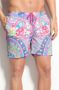 Etro Paisley Print Swim Shorts -I don't know too many men who would wear these, do you??