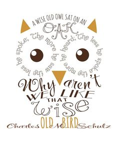 cool saying made into an owl