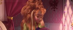 gif de Anna de frozen dormida