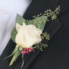 Rose Grooms Boutonniere