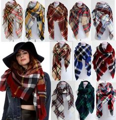 Wrap up your look with our collection of stylish women #plaid #blanket #scarves at trendy clothing boutique - Katydid. Explore now!