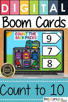 A fun back to school math and counting activity for kindergarten. Your students will feel like they are playing a game while they count the backpacks with Boom cards. Counting Activities, Classroom Activities, Google Classroom, Star Citizen, Interactive Learning, Learning Games, Kindergarten Readiness, Math Centers, Students