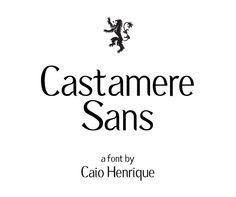 Castamere Sans free font by Caio Henrique