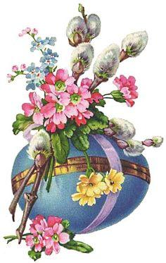 Easter Greeting Cards, Vintage Greeting Cards, Vintage Easter, Vintage Christmas, May Day Baskets, Old Postcards, Happy Easter, Easter Eggs, Origami