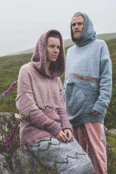 Felted Hoodies - Ethical Knitwear - Suzanna James Knitwear Photo: Matt Honey Photography