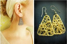 Paper Clip and Yarn Wrapped Earrings Tutorials - The Beading Gem's Journal