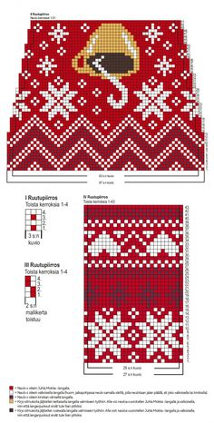 Juhla Mokka -villasukkaohje Crochet Socks, Crochet Gloves, Diy Crochet, Knitting Socks, Fair Isle Knitting Patterns, Knitting Charts, Mosaic Patterns, Crochet Patterns, Chart Design