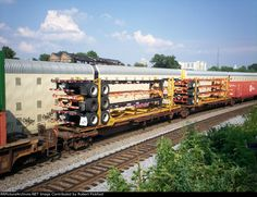 FEC 30008   Description: Spine car, FEC 30008 LOADED WITH EMPTY CONTAINER TRAILERS.   Photo Date:  10/1/2011 Location:  Atlanta Ga, The Howell Wye, GA   Author:  Robert Pickford  Categories:  RollingStock