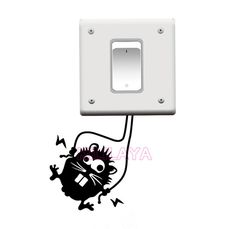 Aliexpress.com : Buy Tinkerbell Fairy Girl Switch Stickers Vinyl Wall Sticker Decals Art for Powerpoints and Light Switches Home Decor Decoration from Reliable art rose suppliers on Kililaya