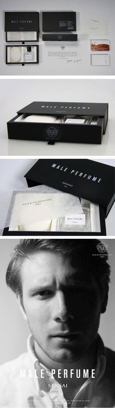 Perfume packaging for Sensai, school project by Johanna Östlund and Josef Eugenius #packaging for men PD