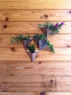 Tessellations // Set of 5 // Modern Wall Planter by MethodMfg