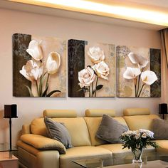 Hot Art HD Print bilder cheap modern for living room wall canvas prints cuadros decoracion flores modular triptych painting * Check this useful article by going to the link at the image. #HomeDecor