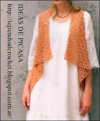 Resultado de imagen para chalecos tejidos a crochet con patrones