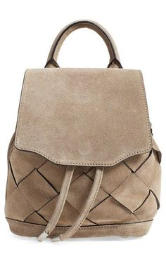 rag & bone 'Micro Pilot' Woven Suede Backpack