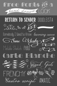 Über Chic for Cheap: Free Fonts for a Hand Drawn Look