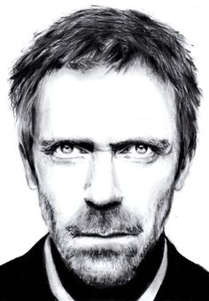 Dr House Hugh Laurie Drawing by portraitartuk on DeviantArt