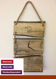 clock design ideas 532409987202496564 - Unusual designer wooden watch on the Необычные дизайнерские деревянные часы на … Unusual designer wooden clock on the wall. Exclusive ideas for decor and interior design – Comfort. Into The Woods, Diy Wood Projects, Woodworking Projects, Woodworking Plans, Wall Clock Design, Diy Clock, Wood Clocks, Wooden Crafts, Wooden Walls