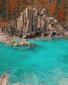Mermaid pool, Yoho National Park (just west of Banff National Park, BC, Canada