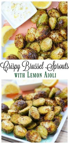 Crispy Brussel Sprouts with Lemon Aioli