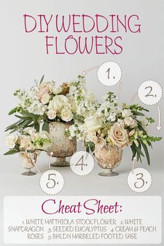 White and green blooms are perfect for your earthy, organic or rustic chic wedding. In today's DIY Flower Recipe series which you can check out here we'll share the blooms needed to create this gorgeously organic feeling arrangement.