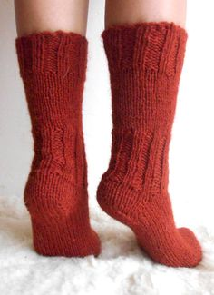 Christmas SALE !!! 15% of all socks !!! Before - $28, now - $23.80 Get yourself some pleasure with these warm, soft and comfortable, handknitt socks. They are handmade from 100% sheep wool yarn.  Pleasantly fluffy and thick , to keep your feet warm, and thin enough to be worn in boots.   Color: Red   Available and ready to ship in size 5, 6, 7, 7.5 /US/  I can make a pair in any size in a matter of three days . Pleasy, specify an appropriate size when you buy it.   Hand wash in col...