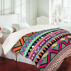 White Room with Patterned Comforter