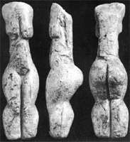 The Yeliseevichi venus figure. The Yeliseevichi site was discovered in 1930 and it is located on the river Sudost,Russia. The most remarkable of these is a finely modelled 15 cm tall figure depicting a shapely woman depicting a shapely woman with no feet, head and hands, carved of mammoth tusk.