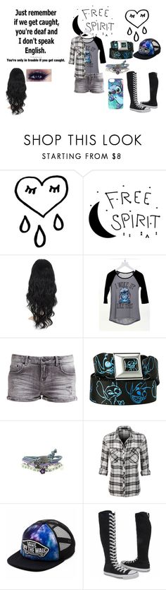 """""""My OC; Lycia's Casual Outfit"""" by lunardreamer ❤ liked on Polyvore featuring dELiA*s, LTB by Little Big, Disney, Vans, Converse, women's clothing, women, female, woman and misses"""